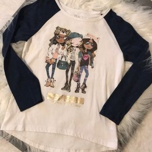 """Girls """"be yourself"""" jersey tee"""